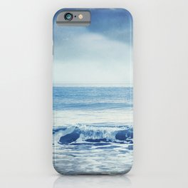 soothing sea - cristal clear wave and blue sea iPhone Case