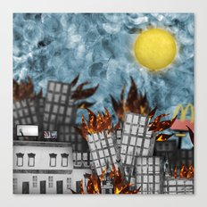 Hell Fire & McDonalds Canvas Print
