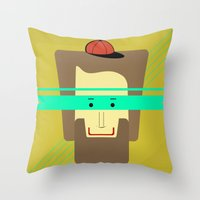 superhero Throw Pillows featuring current superhero by AmDuf