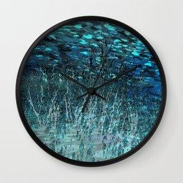 Marine Scape Deekflo Print AwesomePaletteSoc6 Wall Clock