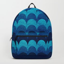 Abstraction_BLUE_WAVES Backpack