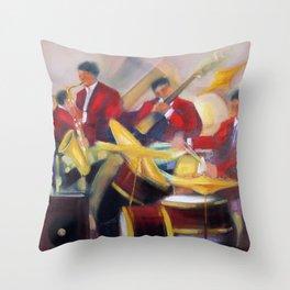 Harlem Renaissance Savoy Ballroom Jazz Age African American Musical portrait painting M. Fillonneau Throw Pillow