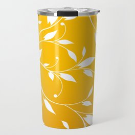 FLOWERY VINES | yellow white Travel Mug