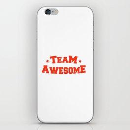 Team Awesome iPhone Skin