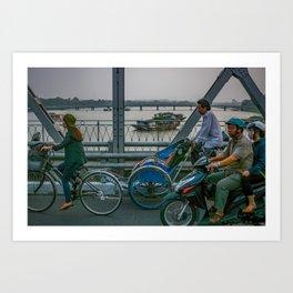Commuters in Hue Art Print