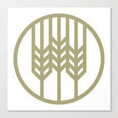 Wheat Circle Graphic Canvas Print