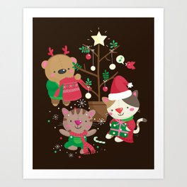 Holiday Crew Art Print