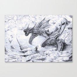 Attack on Titan Dragon Canvas Print