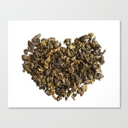 Dried and curled leaves of Oolong Canvas Print