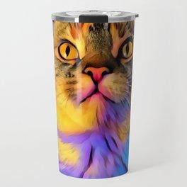 Maisy Cat Digital Manipulation Travel Mug
