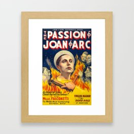 Joan of Arc (the Passion of), 1928 (Vintage Movie Poster) Framed Art Print