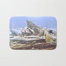 The Sea of Ice - Caspar David Friedrich Bath Mat
