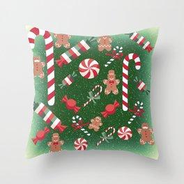 Christmas Candy Cheer Throw Pillow