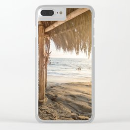 Sunset in Paradise Clear iPhone Case
