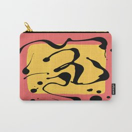Paint Dance Yellow Square on Pink Carry-All Pouch