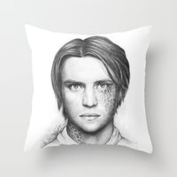 house md Throw Pillows featuring Dr. Chase-House MD-Jesse Spencer-Portrait by Olechka