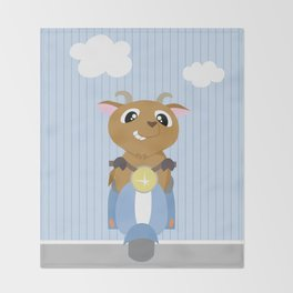 Mobil series scooters goat Throw Blanket