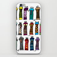 socks iPhone & iPod Skins featuring Slithery Socks by Raven Jumpo