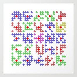"Math Art Digital Print - ""bingo caRds"" Art Print"