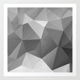 Grey polygonal geometric pattern . Art Print
