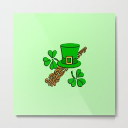 Irish Hat Design Metal Print