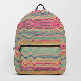 Vintage distorted stripes pattern Backpack