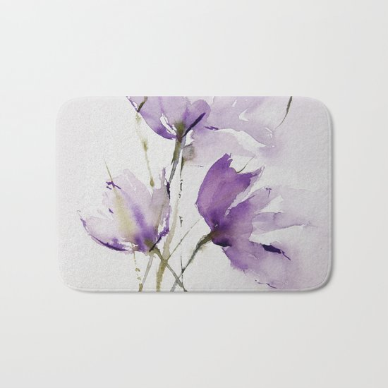 wilted tulips Bath Mat