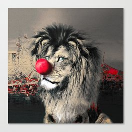 Circus Lion Clown Canvas Print