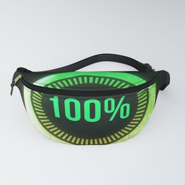 Light green loading futuristic circle Fanny Pack