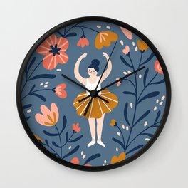 Waltz of the flowers Wall Clock