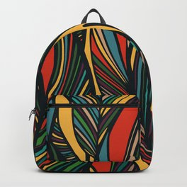 Tropical color leaves pattern Backpack