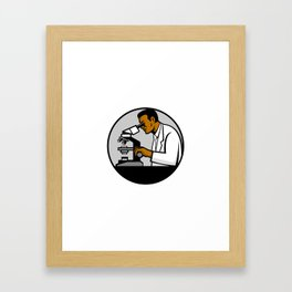 African American Research Scientist Mascot Framed Art Print