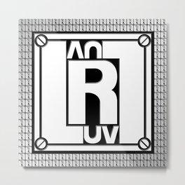 Luv Luv Rangers Logo White Metal Print