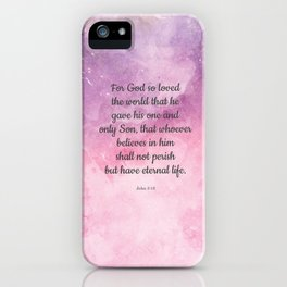 John 3:16, For God So Loved the World Scripture iPhone Case