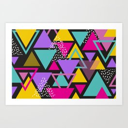Colorul Triangle Abstract Art Print