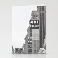 broadway Stationery Cards featuring Broadway - NY by Basma Gallery