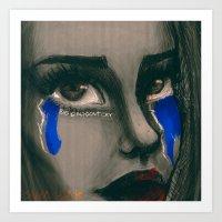BIG GIRLS DON'T CRY Art Print