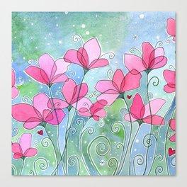 Celestial Strawberry Fluff Canvas Print