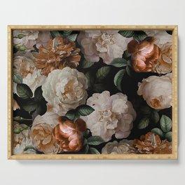 Golden Jan Davidsz. de Heem Roses Serving Tray