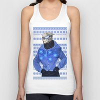 garrus Tank Tops featuring Advances in Christmas Sweaters - Garrus by Weissidian