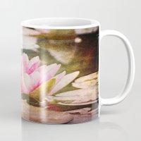 lotus flower Mugs featuring Lotus by Around the Island (Robin Epstein)