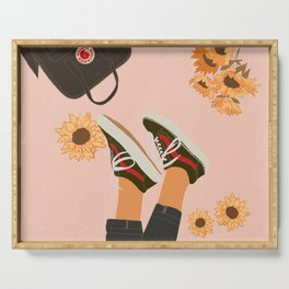 Dreamer and Sunflowers Serving Tray