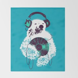 Record Bear Throw Blanket