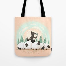 Wolf in the Flock Tote Bag