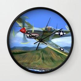 Spitfire Soars Over Hawaii Wall Clock