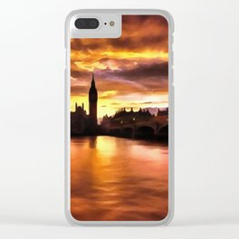 Big Ben in London at Sunset Clear iPhone Case