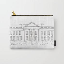 White House Drawing Carry-All Pouch