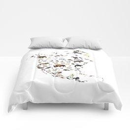 Wild North America map Comforters