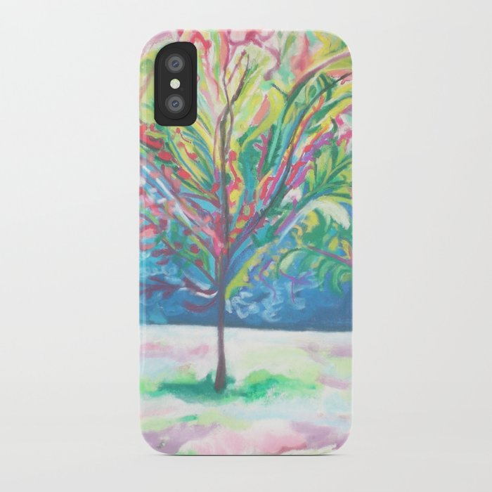 pink tree 1 iPhone Case