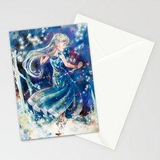 Empty Blue Stationery Cards